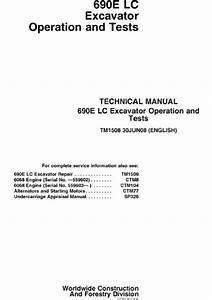 John Deere 690e Lc Excavator Operation  U0026 Tests Pdf Manual
