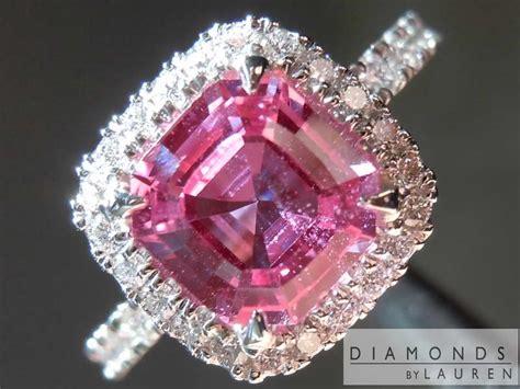 ct pink asscher sapphire ring