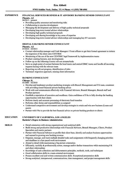 banking consultant resume samples velvet jobs