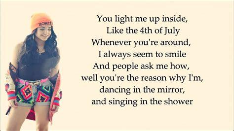 Becky G Shower Lyrics Youtube