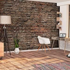 Tapeten 3d Steinoptik : vlies fototapete stein ziegelsteine rot braun ziegel 3d tapete wohnzimmer xxl ebay ~ A.2002-acura-tl-radio.info Haus und Dekorationen