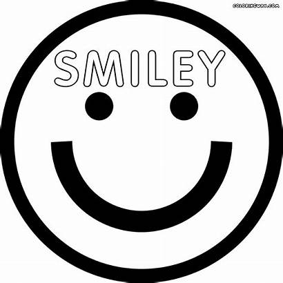 Face Smiley Coloring Colorings Sheet