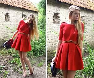 anais vandenbosch zara robe rouge rouge chaperon With robe rouge soirée zara