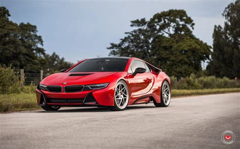 Epic Tuning That Includes Body Kit For Red Bmw I8