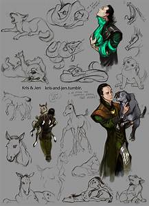 LOKI AND HIS CHILDREN! by ~jen-and-kris on deviantART Love ...