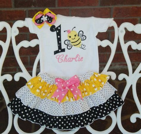 baby girl bumble bee birthday outfit bee