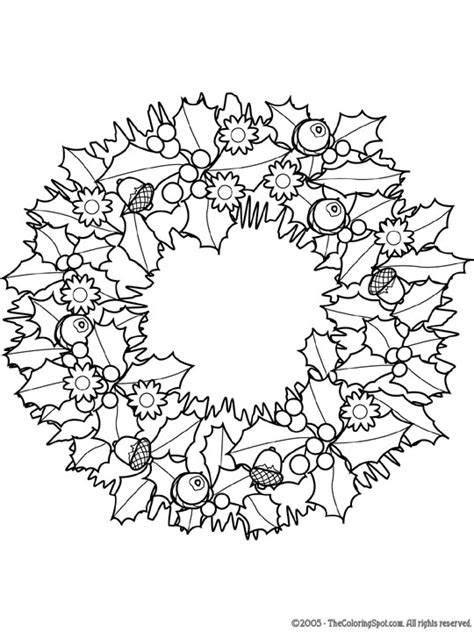 christmas wreath coloring pages getcoloringpagescom
