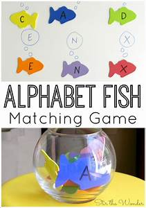 alphabet fish matching game stir the wonder With fish alphabet letters