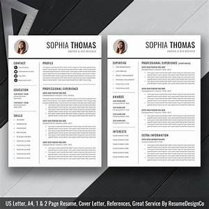 2020 Simple Resume Template Word  Modern Cv Template