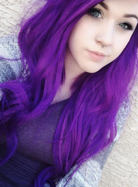 Best 25 Girl With Purple Hair Ideas On Pinterest Faded