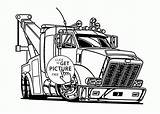 Coloring Truck Tow Trucks Semi Drawing Printable Printables Transportation Trailer Games Colouring Peterbilt Wuppsy Drawings Clipart Clip Grain Adults Monster sketch template