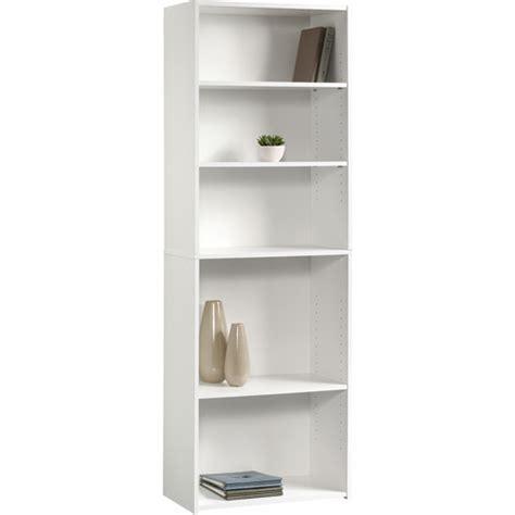bookshelf walmart sauder beginnings 5 shelf bookcase soft white walmart com