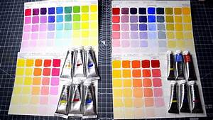 Color Chart With Names Making Color Mixing Charts For Watercolors And Gouche With