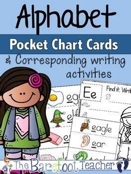 alphabet pocket chart cards writing activities