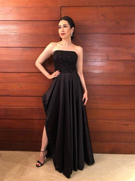 risma dress karisma kapoor wears a cocktail gown to all