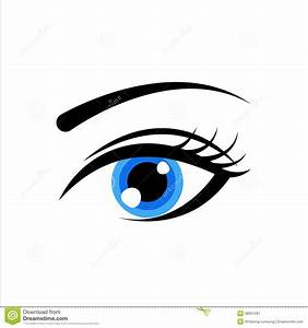Vector Illustration Of Blue Eye Royalty Free Stock ...