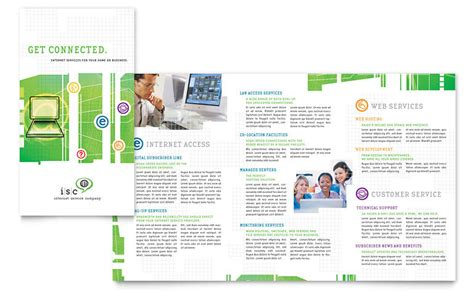 isp internet service brochure template word publisher