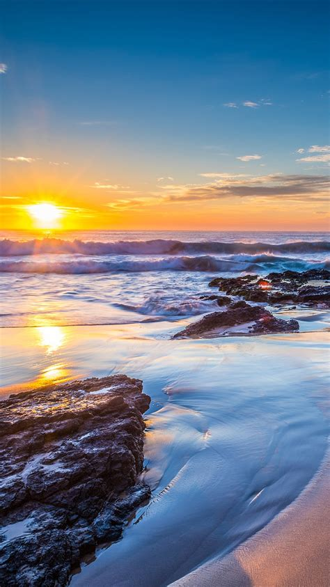 These hd iphone wallpapers are free to download for your iphone(include iphone 12). Sunset, ocean, Jones Beach, New South Wales, Australia ...