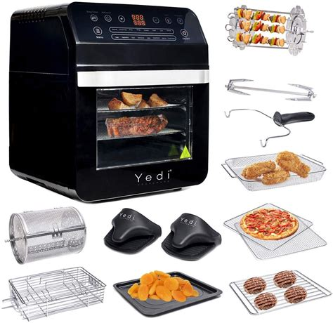 air fryer oven package recipes total xl deluxe kit yedi rotisserie accessory quart bpa shutoff fry ovens kitchen dining grill