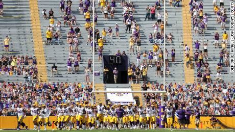 LSU to stop temperature checks at football games - CNN