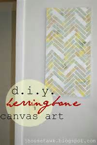 Herringbone DIY Art Canvas