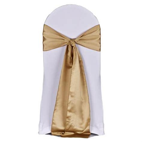 duchess satin chair sash gold wedding