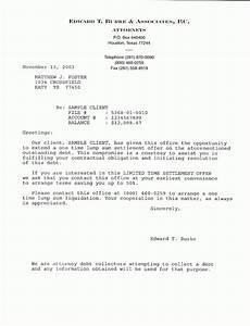 settlement letter example the best letter sample With free sample debt settlement offer letter