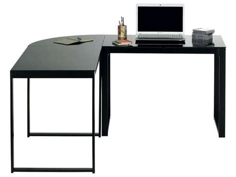 conforama bureau en verre bureau d 39 angle blacky coloris noir vente de bureau