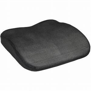 Black mesh memory foam car van lower back seat base for Back wedges for lumbar support
