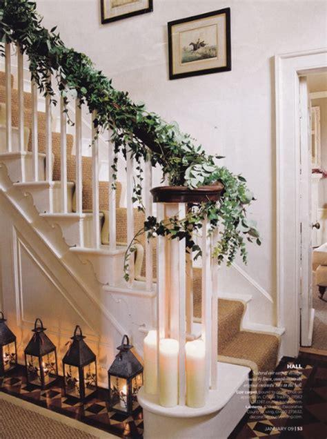 christmas staircase ideas elegant christmas decorating