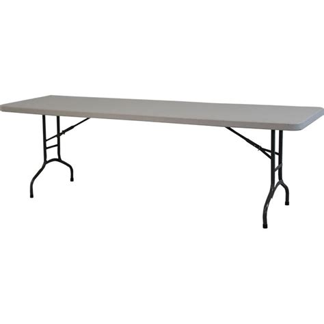 white plastic folding chairs and 8 banquet tables combo