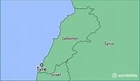 Where is Tyre, Lebanon? / Tyre, Liban-Sud Map - WorldAtlas.com