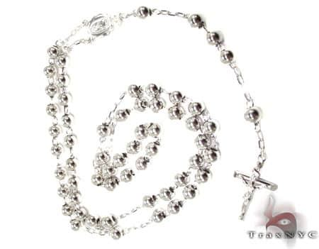 medieval rosary beads  mens diamond gold rosary chain white gold
