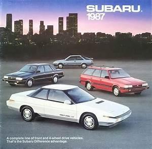 1987 Subaru Dl Gl Gl-10 Xt Brat Sales Brochure Catalog Us 87 4wd Turbo