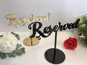 Reserved, Table, Sign, Reserved, Seating, Reserved, Sign, For