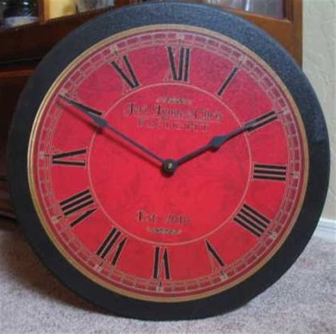 oversized red wall clock victorian wall clock