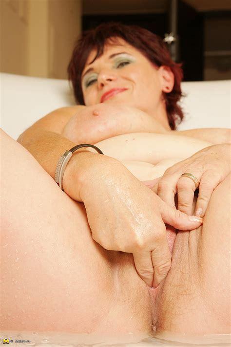 Redhead Milf Elmira V Caress Her Natural Racks Milf Fox