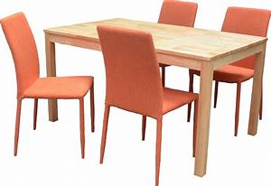 Ensemble Table Et Chaise Conforama : ensemble table et 4 chaises contemporain naturel orange nyro ensemble table et chaises cuisine ~ Dailycaller-alerts.com Idées de Décoration