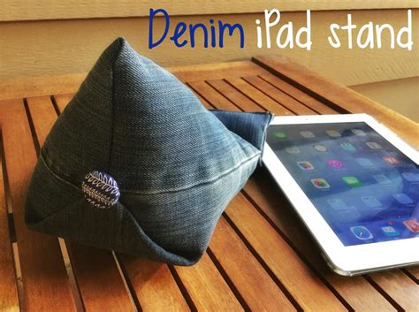 denim diy tablet stand allfreesewingcom