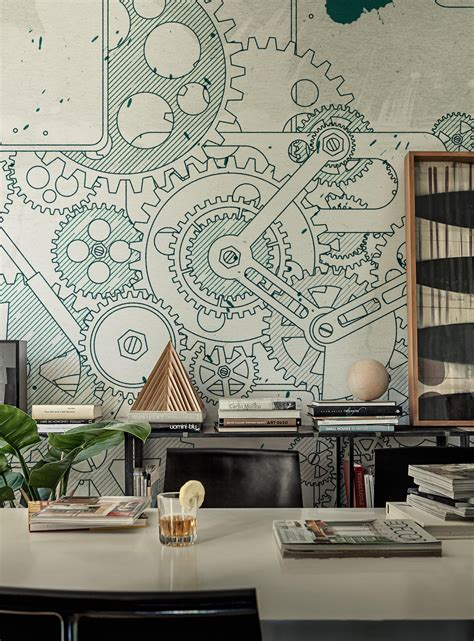 steampunk wall coverings wallpapers  walldeco