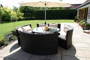 new york rattan outdoor garden furniture round table sofa With katzennetz balkon mit garden set