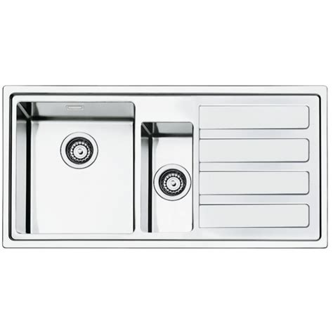 brushed steel kitchen sink smeg ld102d 2 mira kitchen sink 1 5 bowl brushed stainless 4947
