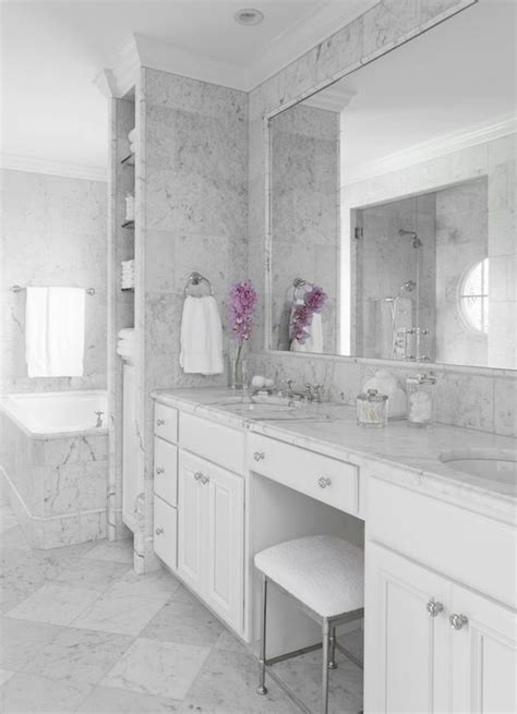 Marble Design Ideas Your Master Bath by Beautiful Marble Master Bathroom With White Bathroom