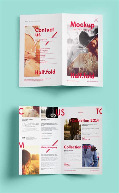 bi fold brochure mockup mockuptree