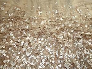 Larisa Beaded Border Couture Bridal Lace Fabric Bronze