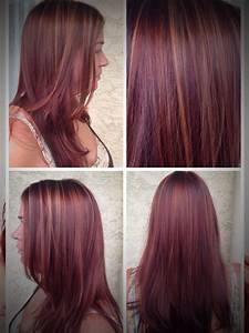 Caramel And Red Highlights For Brown Hair | Color trends ...