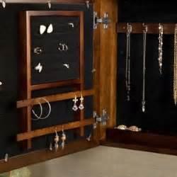 Amazon.com: Espresso Square Wall Mount Jewelry Armoire