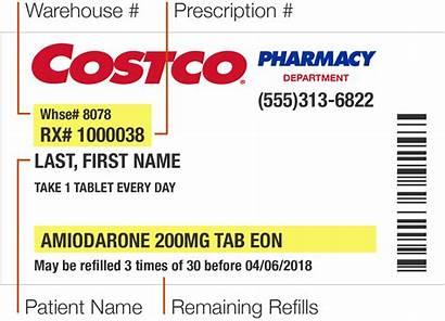 Prescription Refill Costco Warehouse Rx Label Pharmacy