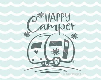 camping svg happy camper svg file cricut explore