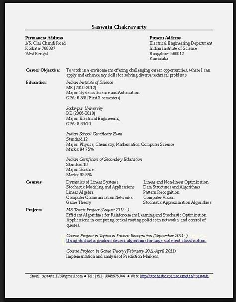 Find Sle Resumes by 15205 Resume Template For Fresh Graduate Cv Sles For
